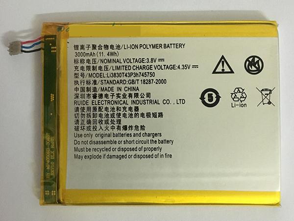 ZTE Li3830T43P3h745750 Handy akku
